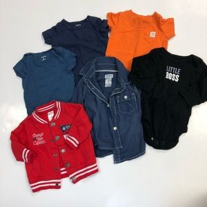 6 bundle of baby boy tops